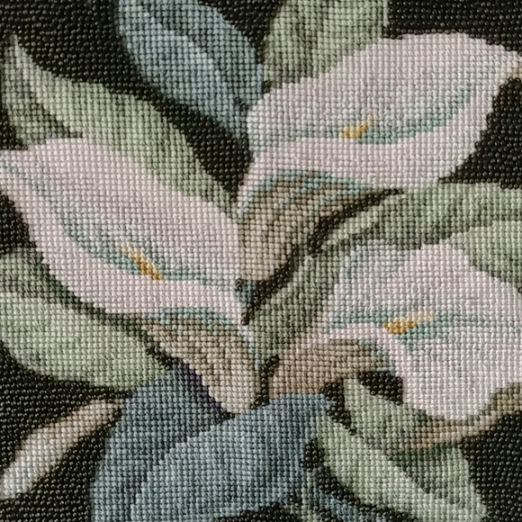 4/$15 - vintage beaded lily embroidery
